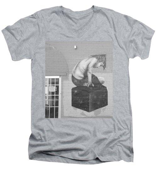 Quiet Please  Men's V-Neck T-Shirt