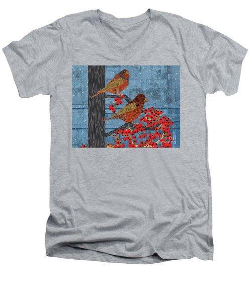 Sagebrush Sparrow Short Men's V-Neck T-Shirt by Kim Prowse