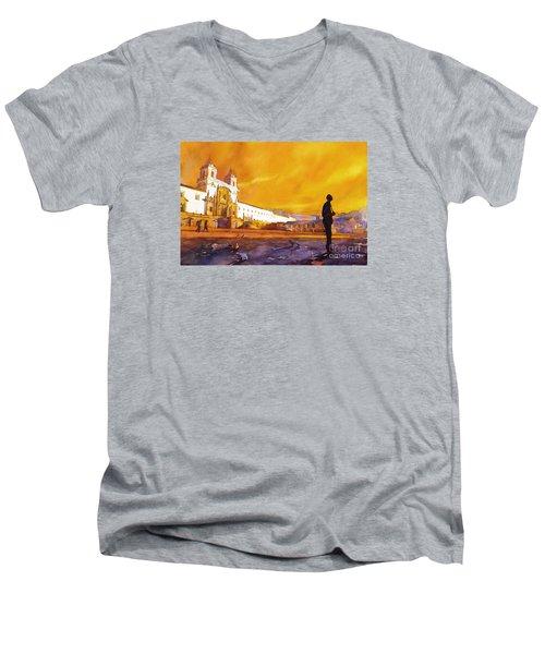 Quito Sunrise Men's V-Neck T-Shirt