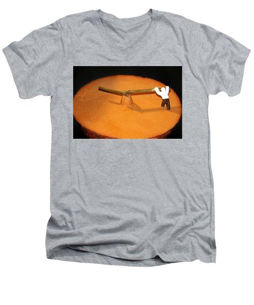 Race Against Time Men's V-Neck T-Shirt