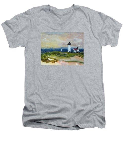 Race Point Light Men's V-Neck T-Shirt