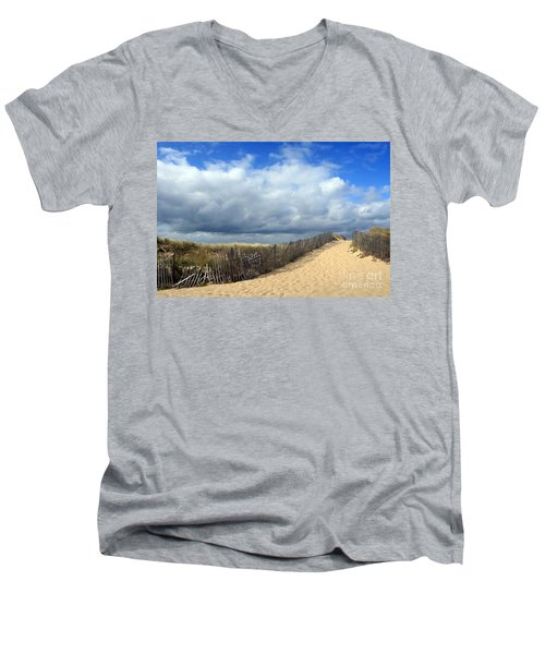Men's V-Neck T-Shirt featuring the photograph Race Point by Paula Guttilla