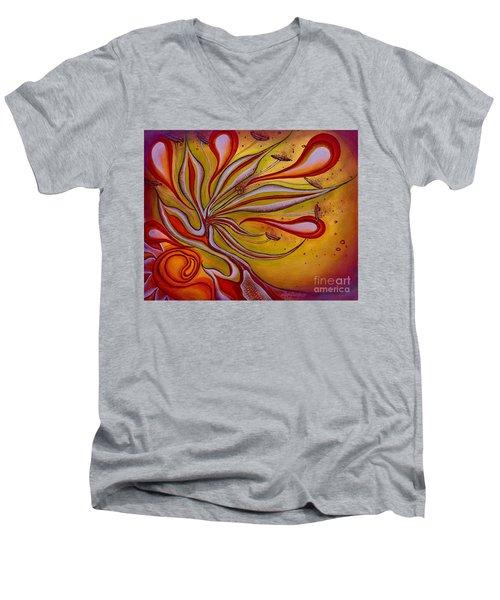 Radiance Of Purpose Men's V-Neck T-Shirt