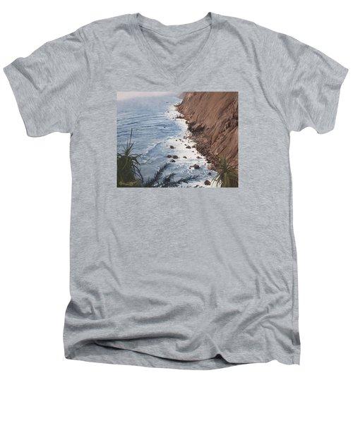 Ragged Point California Men's V-Neck T-Shirt