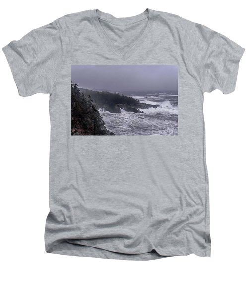 Raging Fury At Quoddy Men's V-Neck T-Shirt