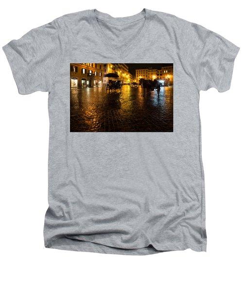 Rain Chased The Tourists Away... Men's V-Neck T-Shirt