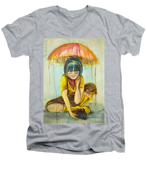 Rain Day  Men's V-Neck T-Shirt