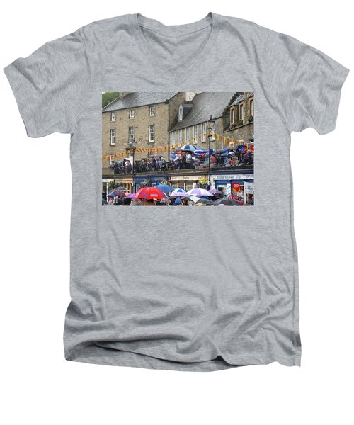 Rain On The Parade Men's V-Neck T-Shirt by Suzanne Oesterling