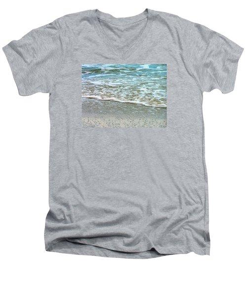 Rain Sea  Men's V-Neck T-Shirt by Oleg Zavarzin