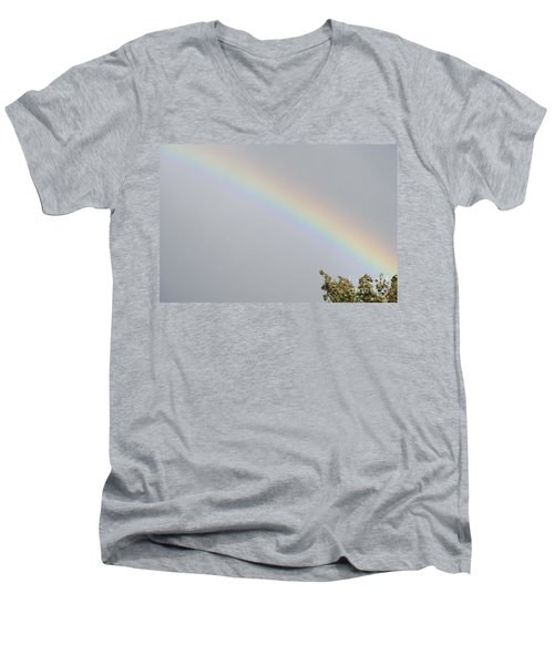Rainbow After The Rain Men's V-Neck T-Shirt by Barbara Griffin