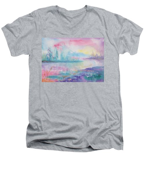 Rainbow Dawn Men's V-Neck T-Shirt