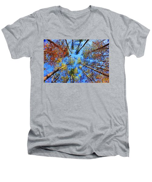 Rainbow Fall Men's V-Neck T-Shirt