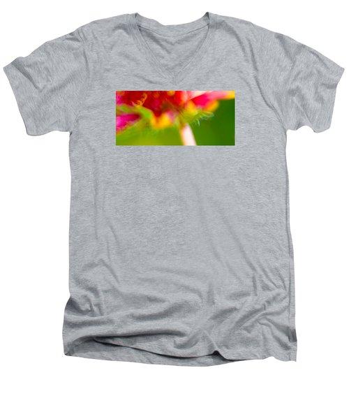 Rainbow Flower Men's V-Neck T-Shirt by Darryl Dalton
