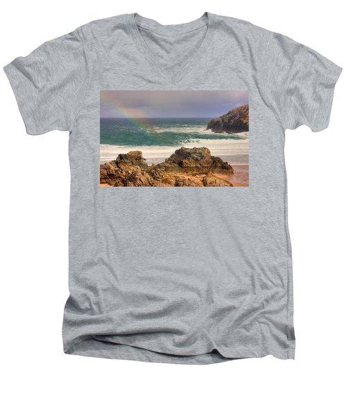 Rainbow Over The Sea Men's V-Neck T-Shirt