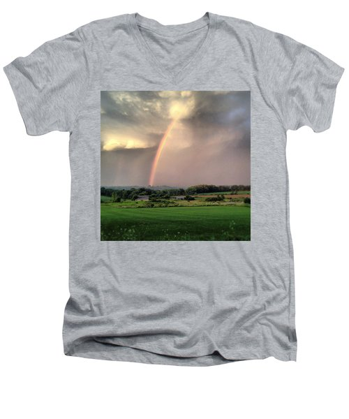 Rainbow Poured Down Men's V-Neck T-Shirt