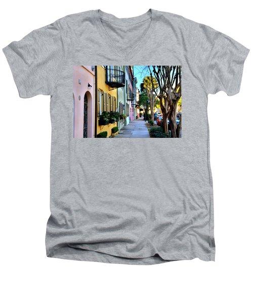 Rainbow Row Hdr Men's V-Neck T-Shirt