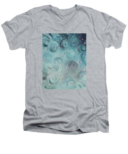 Raindrops Men's V-Neck T-Shirt by Patricia Olson