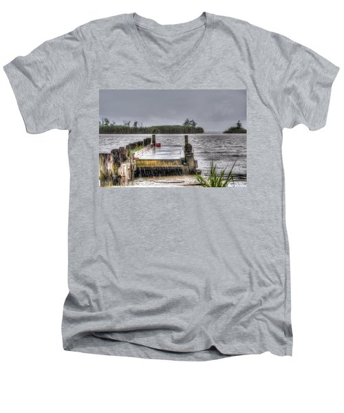 Men's V-Neck T-Shirt featuring the photograph Rained Out by Charlotte Schafer