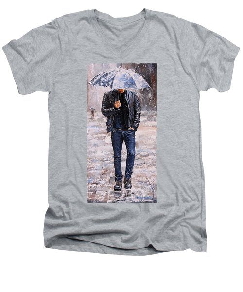 Rainy Day #23 Men's V-Neck T-Shirt