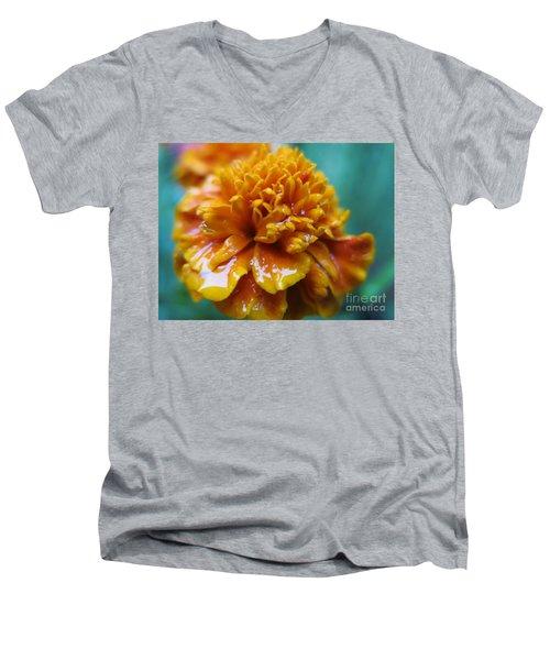 Rainy Marigolds Men's V-Neck T-Shirt