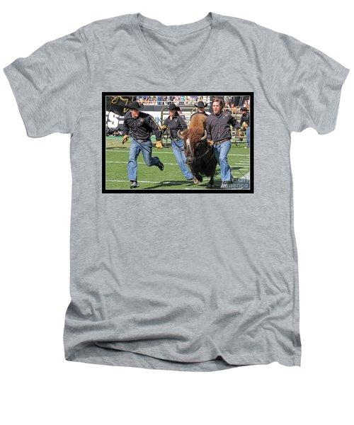 Ralphie V Men's V-Neck T-Shirt by Bob Hislop