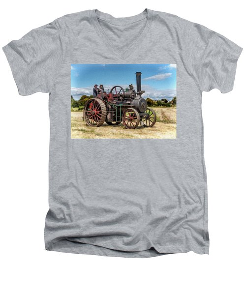 Ransomes Steam Engine Men's V-Neck T-Shirt