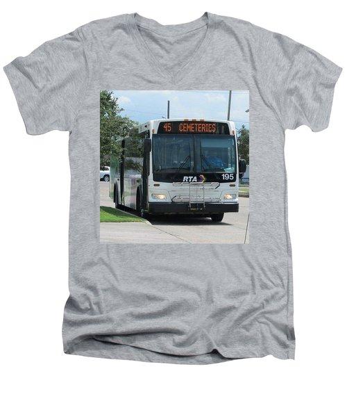 Cemeteries - Rapid Transit Authority - New Orleans La Men's V-Neck T-Shirt by Deborah Lacoste