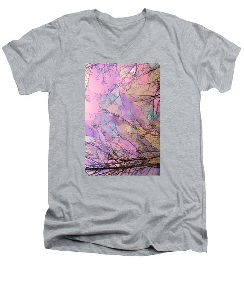 Men's V-Neck T-Shirt featuring the photograph Rapture by Kathy Bassett
