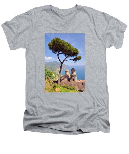 Ravello Pine Men's V-Neck T-Shirt by Alan Toepfer