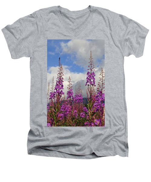 Men's V-Neck T-Shirt featuring the photograph Reach For The Sky by Cathy Mahnke