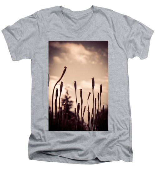 Flowers Reaching For The Sky Men's V-Neck T-Shirt