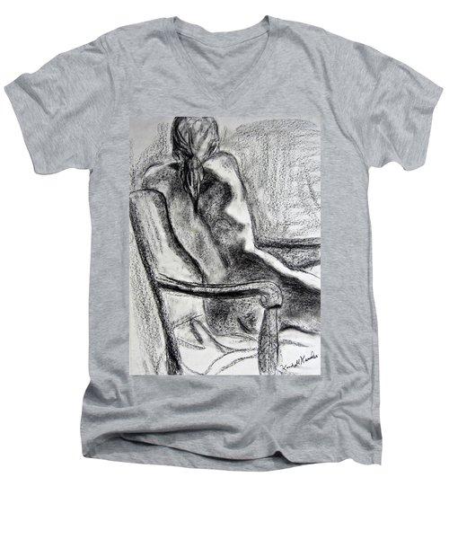 Reaching Out Men's V-Neck T-Shirt by Kendall Kessler