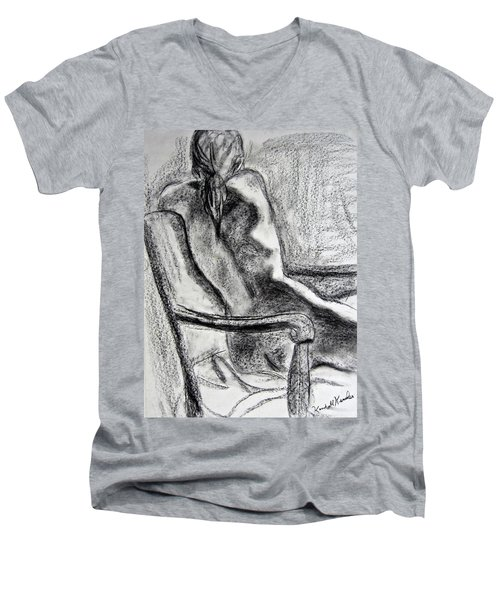 Reaching Out Men's V-Neck T-Shirt