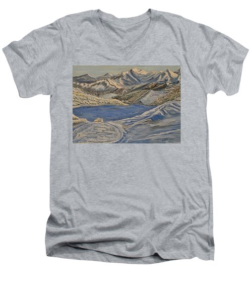 Reaching The Dream - Painting Men's V-Neck T-Shirt