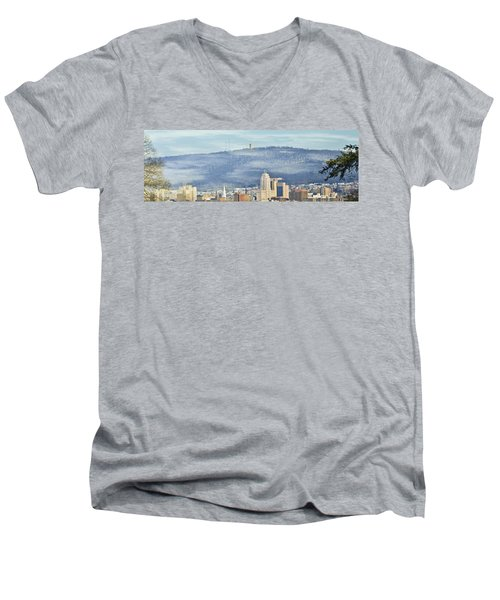 Reading Skyline Men's V-Neck T-Shirt
