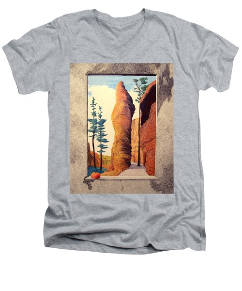 Reared Window Men's V-Neck T-Shirt by A  Robert Malcom