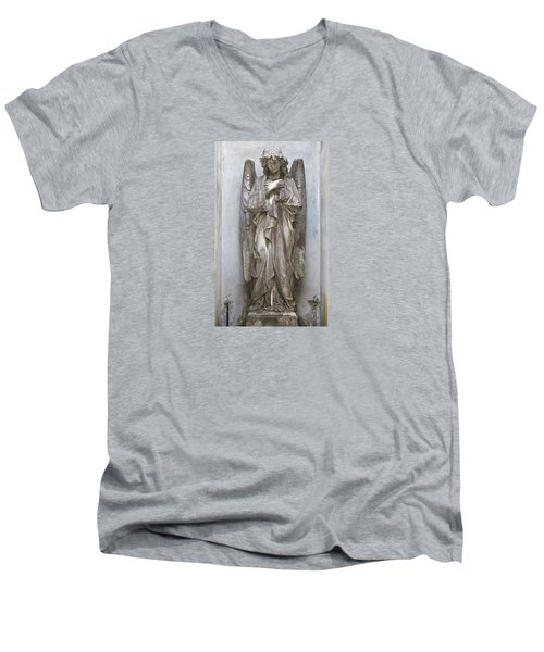 Recoleta Angel Men's V-Neck T-Shirt by Venetia Featherstone-Witty
