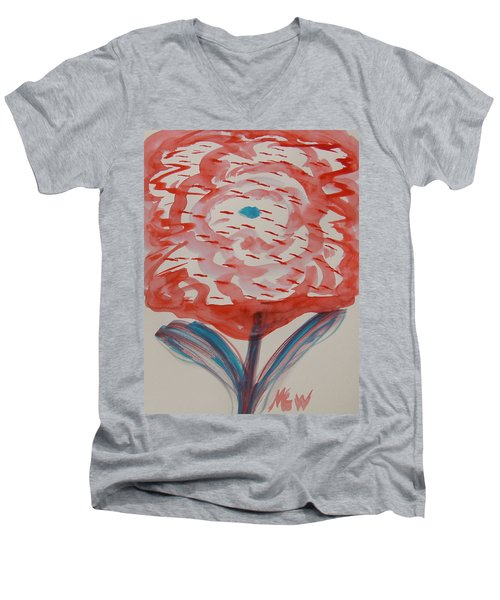 Red And Baby Blue Men's V-Neck T-Shirt