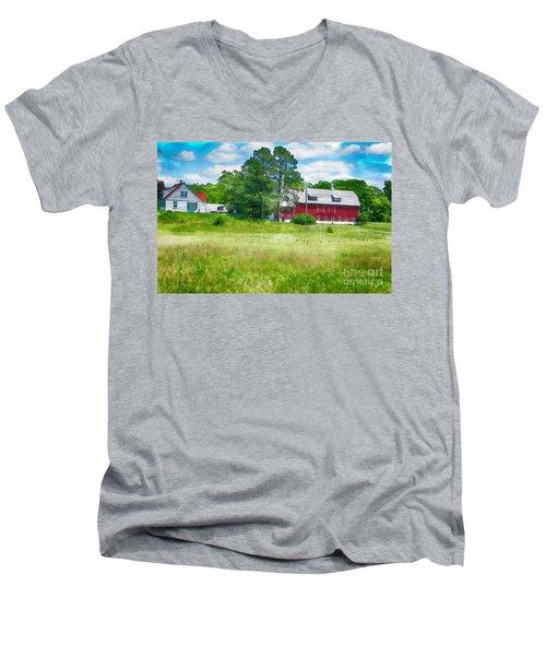 Red Barn Men's V-Neck T-Shirt