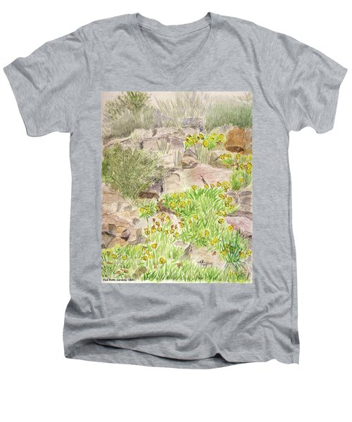 Red Butte Gardens Men's V-Neck T-Shirt