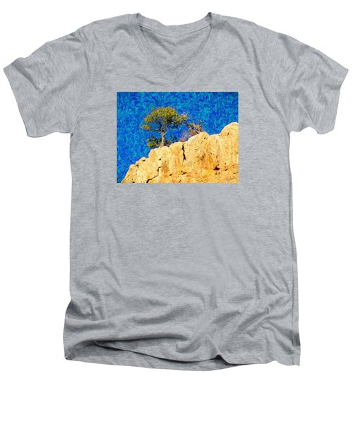 Red Canyon - Dixie National Forest Men's V-Neck T-Shirt