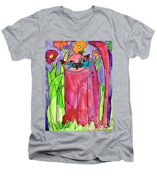 Red Cat Men's V-Neck T-Shirt