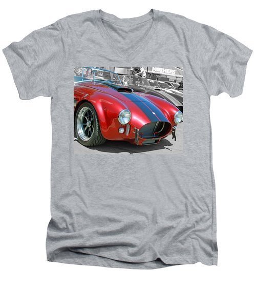 Men's V-Neck T-Shirt featuring the photograph Red Cobra by Shoal Hollingsworth