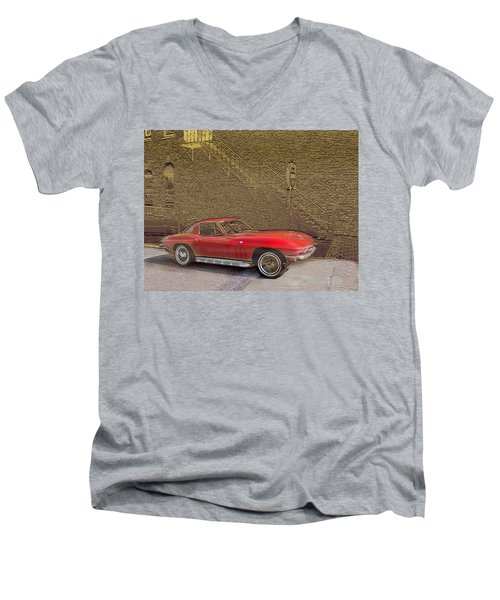 Red Corvette Men's V-Neck T-Shirt