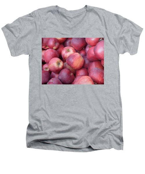 Men's V-Neck T-Shirt featuring the photograph Red Delicious by Joseph Skompski