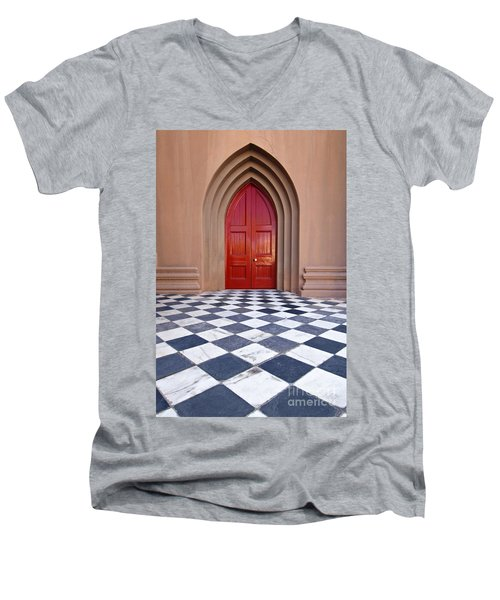 Red Door - D001859 Men's V-Neck T-Shirt