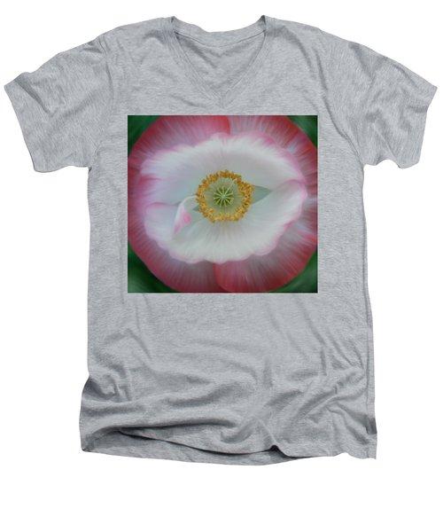 Red Eye Poppy Men's V-Neck T-Shirt by Barbara St Jean