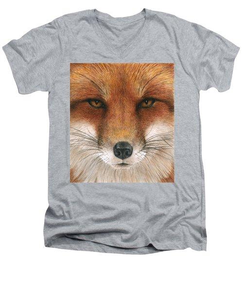 Red Fox Gaze Men's V-Neck T-Shirt