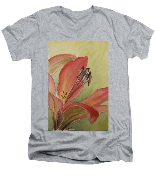 Red Lily Men's V-Neck T-Shirt