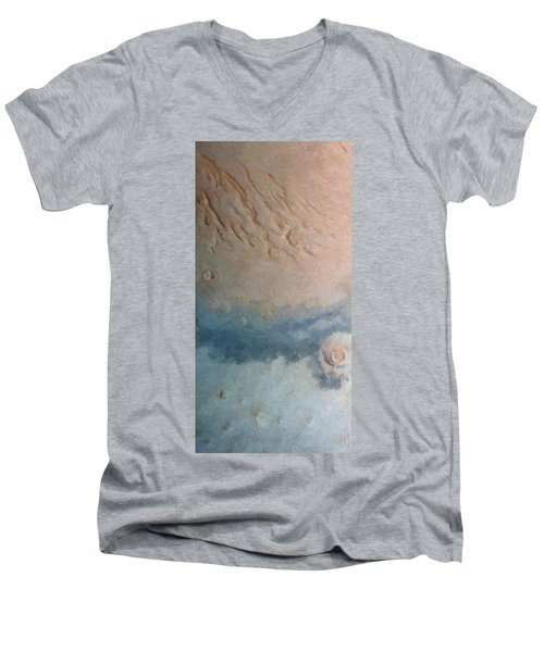 Red Planet 1 Men's V-Neck T-Shirt by David Hansen